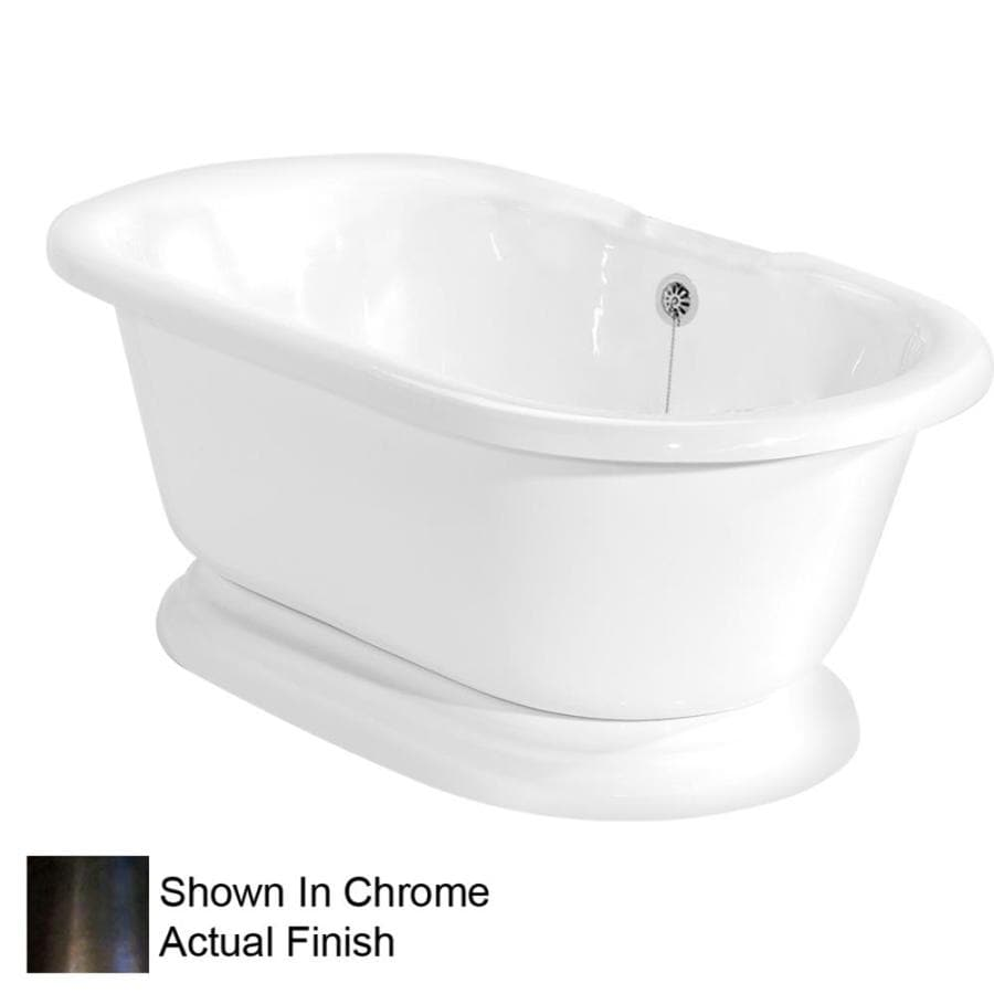 American Bath Factory Heritage 72-in White Acrylic Pedestal Bathtub with Back Center Drain