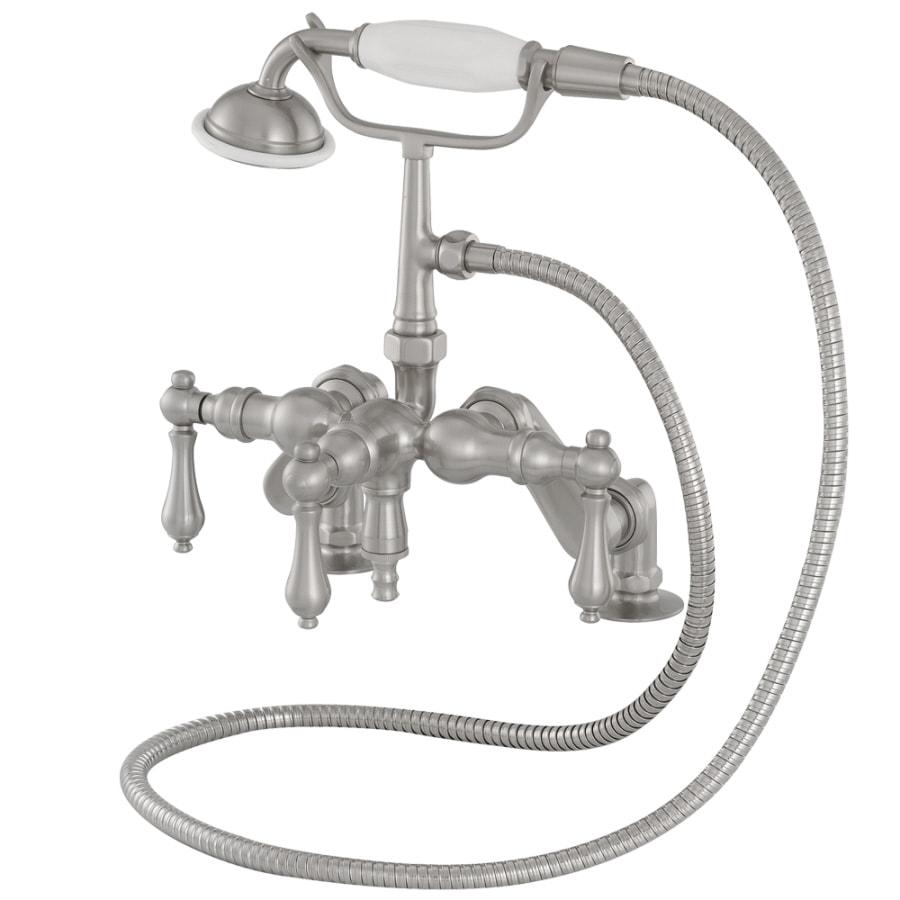 American Bath Factory F400 Series Satin Nickel 3-Handle Bathtub and Shower Faucet Trim Kit with Handheld Showerhead