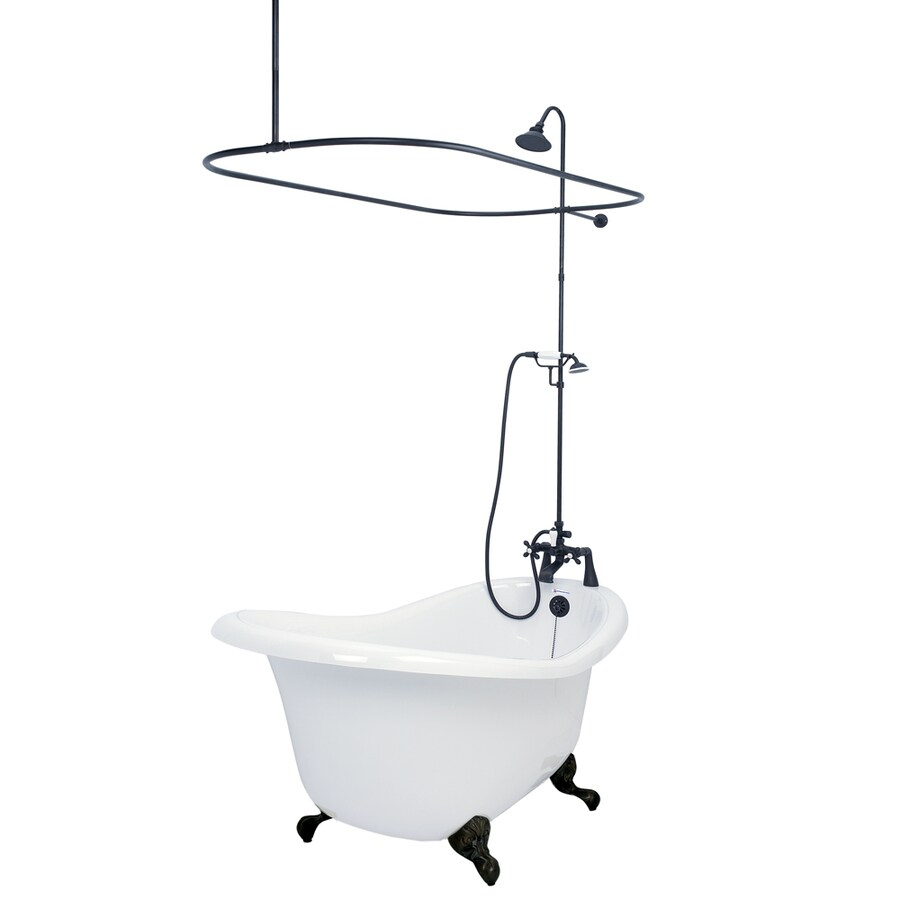 Shop American Bath Factory Chelsea 60 In White Acrylic