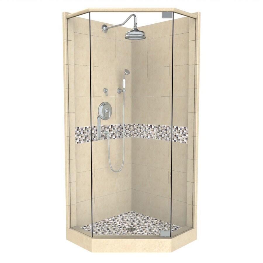 Shop American Bath Factory Java Medium with Accent Fiberglass and ...