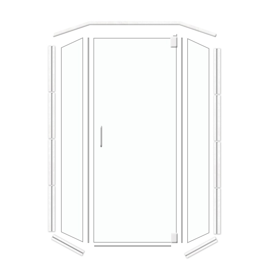 American Bath Factory Frameless Polished Chrome Shower Door