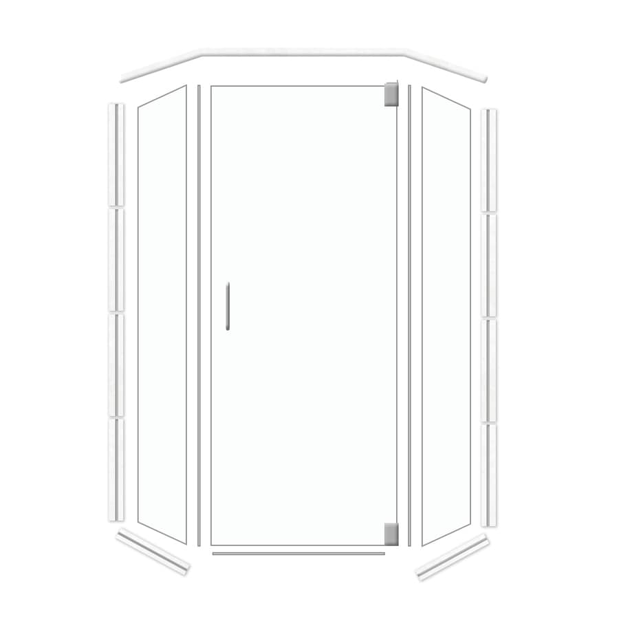 American Bath Factory 38-in W x 70-in H Frameless Neo-Angle Shower Door