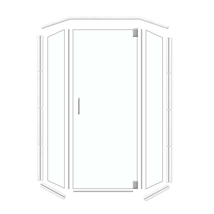 American Bath Factory 36-in W x 70-in H Frameless Neo-Angle Shower Door