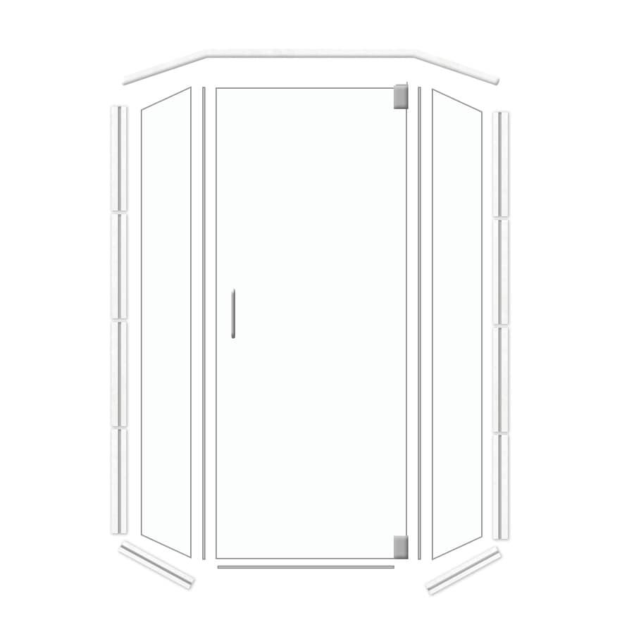 American Bath Factory Frameless Brushed Nickel Shower Door