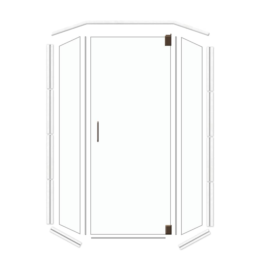 American Bath Factory Frameless Dark Bronze Shower Door