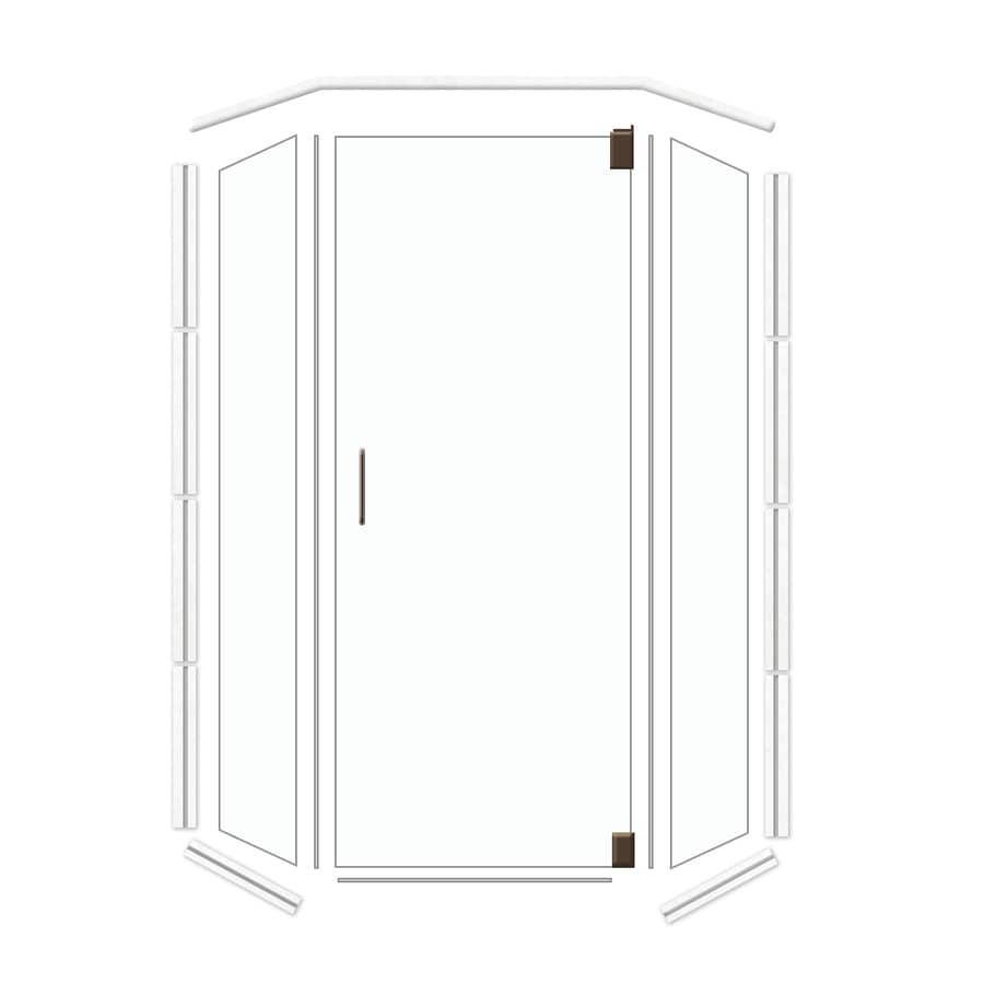 American Bath Factory Frameless Dark Bronze Shower Door