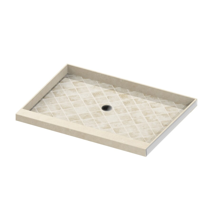 American Bath Factory Flagstaff Molded Stone Shower Base (Common: 32-in W x 54-in L; Actual: 32-in W x 54-in L)