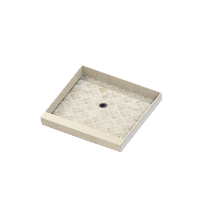 American Bath Factory Sonoma Sonoma Molded Stone Shower Base (Common: 42-in W x 42-in L; Actual: 42-in W x 42-in L) with Center Drain