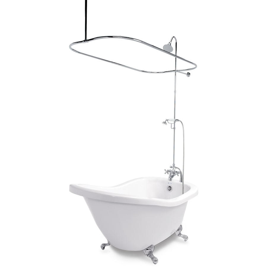 Shop American Bath Factory Chelsea 60-in White Acrylic Clawfoot ...