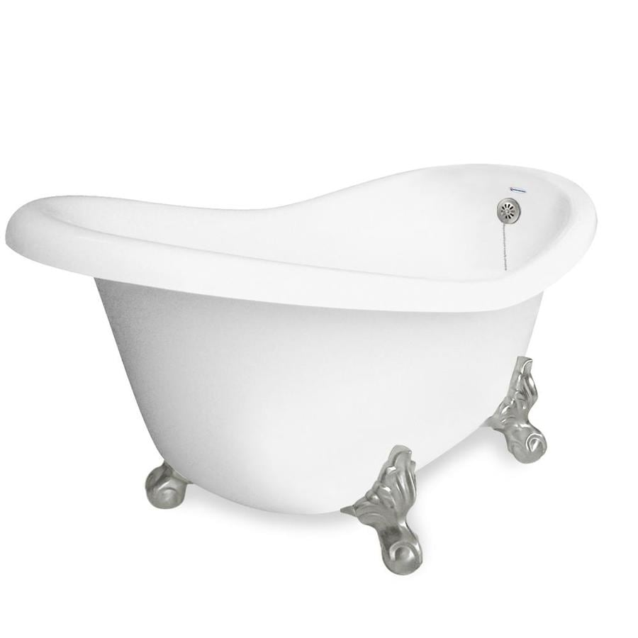 Shop American Bath Factory Marilyn 67 In White Acrylic Clawfoot Bathtub With