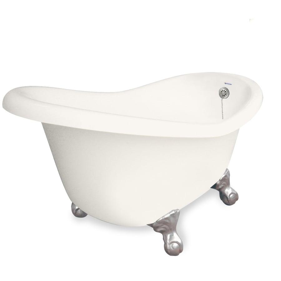 American Bath Factory Marilyn 67-in Bisque Acrylic Clawfoot Bathtub with Reversible Drain