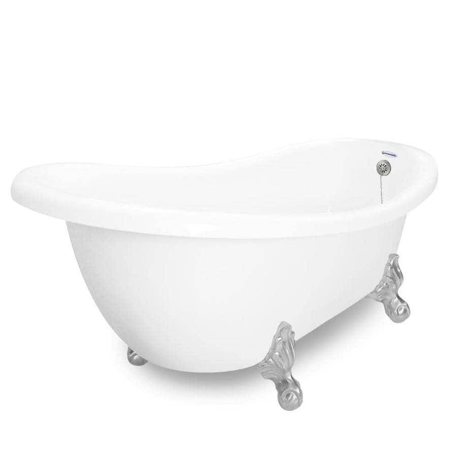 Shop American Bath Factory Churchill 71 In White Acrylic Clawfoot Bathtub Wit