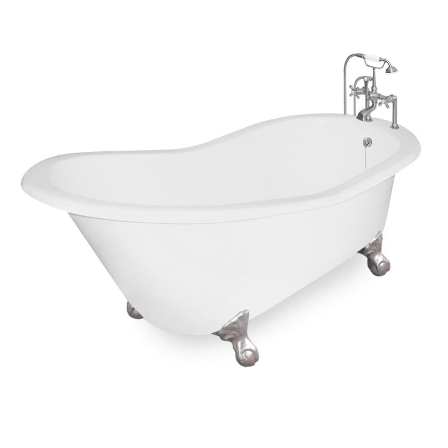 Shop American Bath Factory Wintess 61.5-in White Cast Iron Bathtub ...