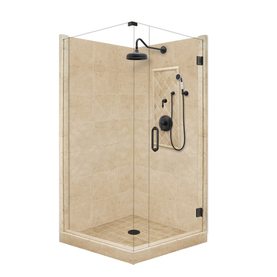 corner shower kits shop american bath factory panel medium fiberglass and 10401