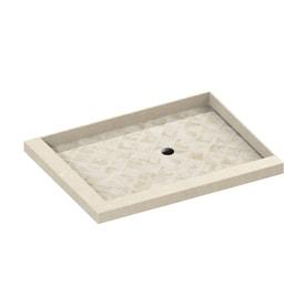 american bath factory 48in l x 36in w molded stone square corner