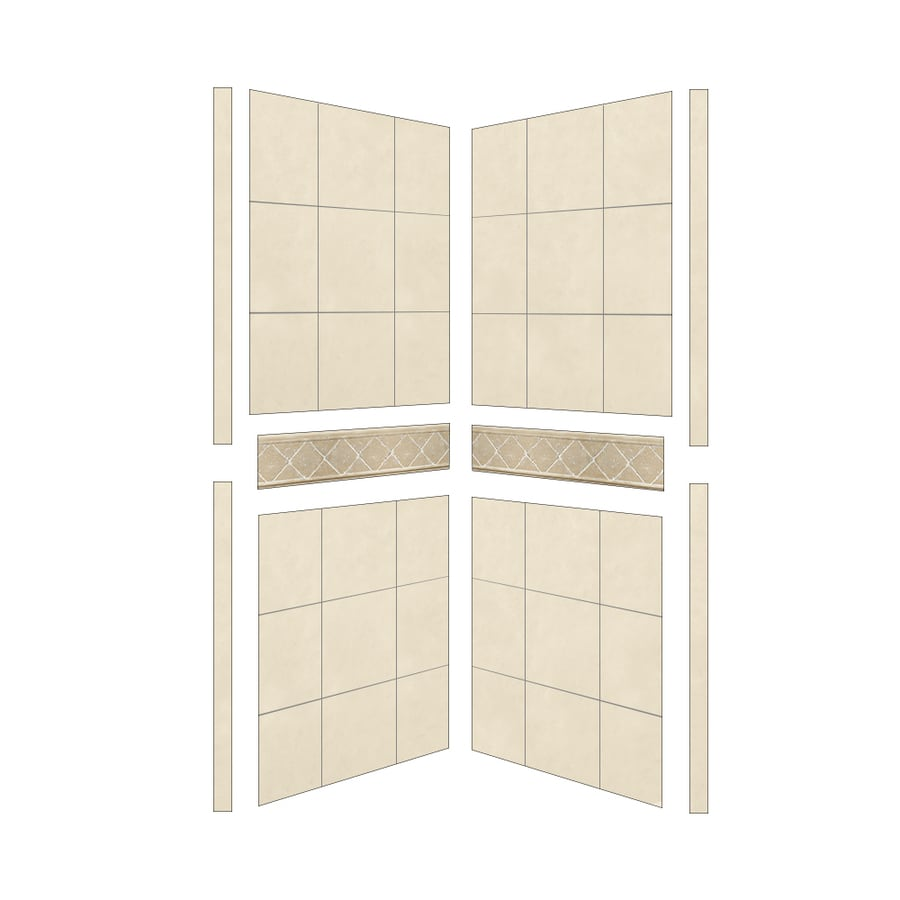 American Bath Factory Shower Wall Surround Side Panel (Common: 32-in; Actual: 80-in x 32-in)