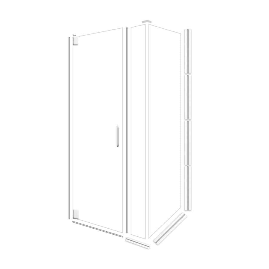 American Bath Factory 70-in H x 34.75-in W Laguna Shower Glass Panel