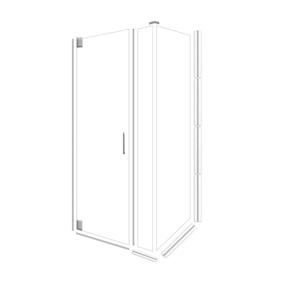 American Bath Factory 70-in H x 46.75-in W Laguna Shower Glass Panel
