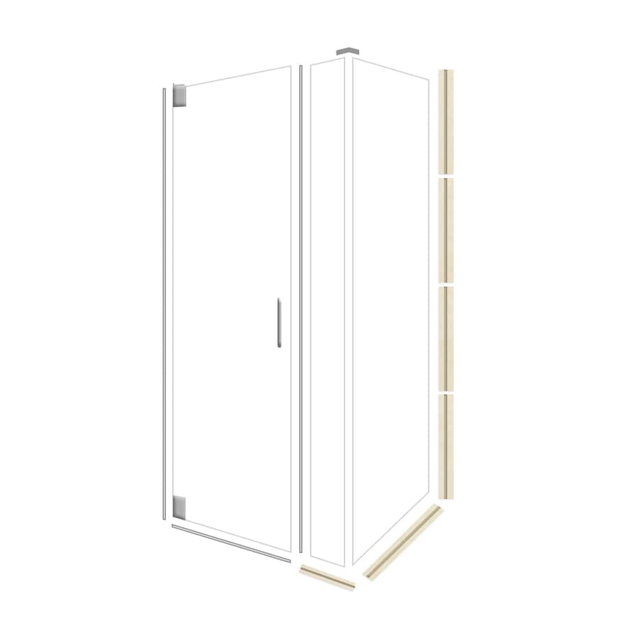 American Bath Factory 70-in H x 34.75-in W Flagstaff Shower Glass Panel