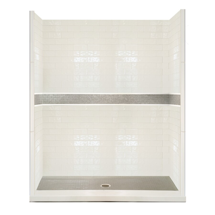 American Bath Factory Chelsea 24-Piece Alcove Shower Kit (Common: 30-in x 60-in; Actual: 80-in x 30-in x 60-in)