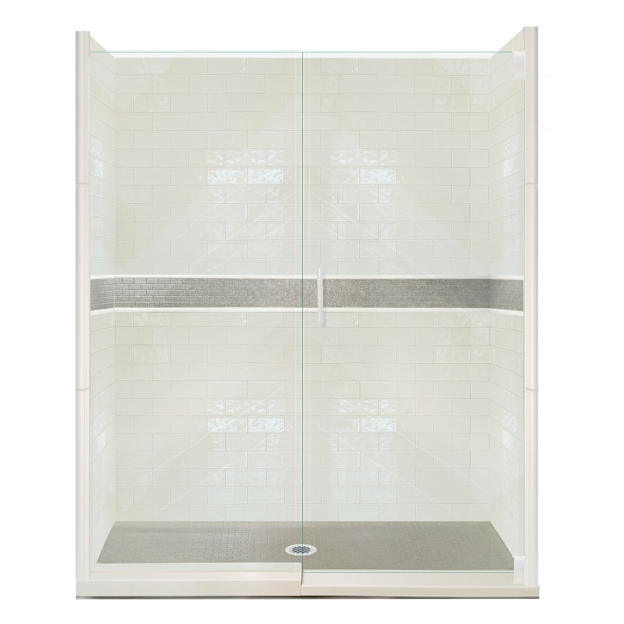 American Bath Factory Chelsea 26-Piece Alcove Shower Kit (Common: 30-in x 60-in; Actual: 80-in x 30-in x 60-in)