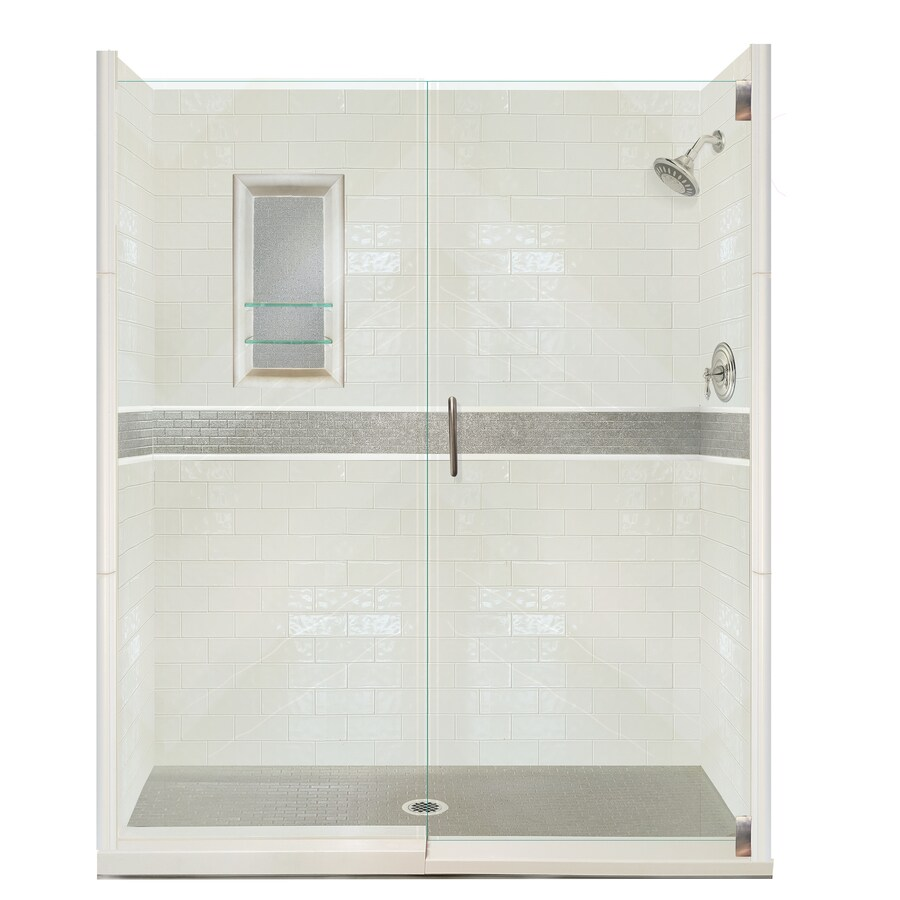 American Bath Factory Chelsea 31-Piece Alcove Shower Kit (Common: 30-in x 60-in; Actual: 80-in x 30-in x 60-in)