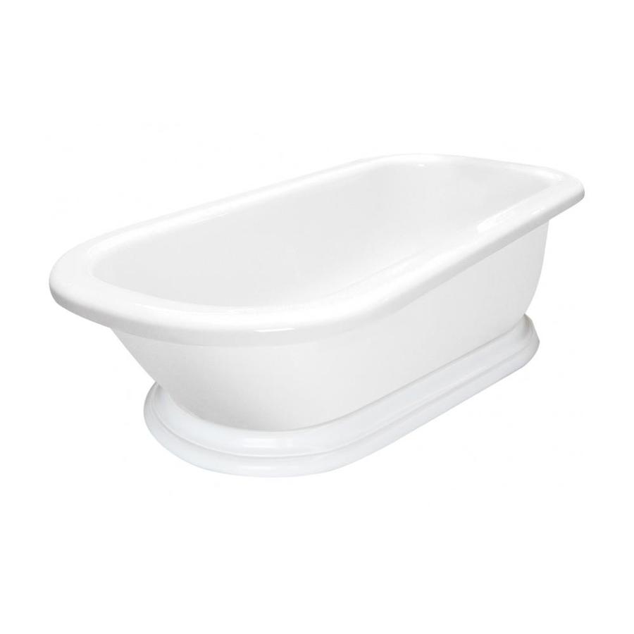 American Bath Factory Charlotte 67-in White Acrylic Freestanding Bathtub with Reversible Drain