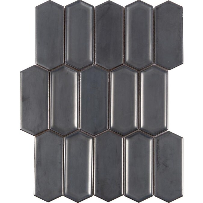 satori gunmetal metallic picket 12 in x