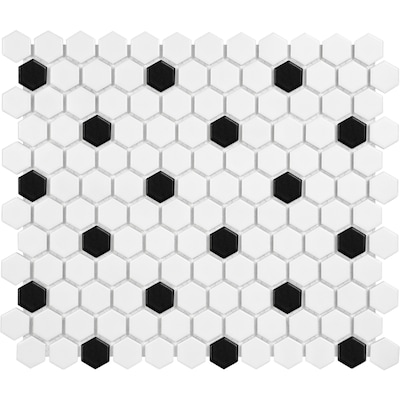 Hexagonal Black And White Tile At Lowes Com