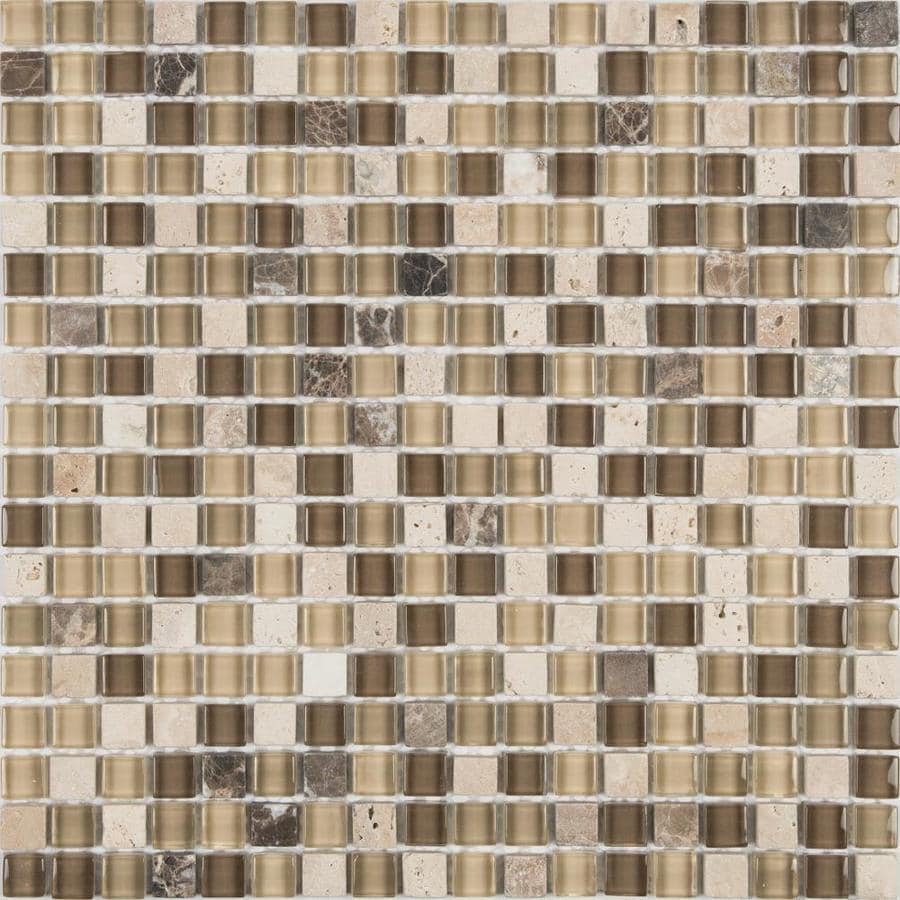 - Anatolia Tile Java 12-in X 12-in Multi-finish Stone And Glass