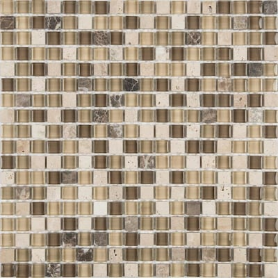 Java 12 In X Stone And Gl Uniform Squares Mosaic Wall Tile Common Actual 11 88