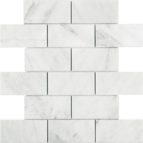 Allen Roth Venatino Polished 12 In X 12 In Polished Natural Stone Marble Brick Wall Tile In The Tile Department At Lowes Com