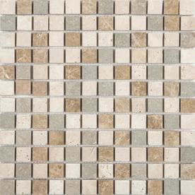 Anatolia Tile Countryside Uniform Squares Mosaic Travertine Wall Common 12 In X