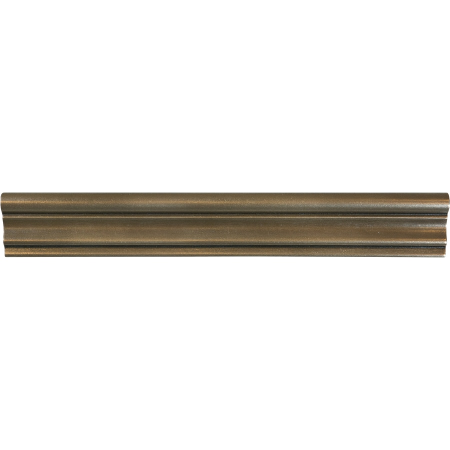 Shop bronze metal chair rail tile common 2 in x 12 in actual 1 73 in x 12 in at lowes com