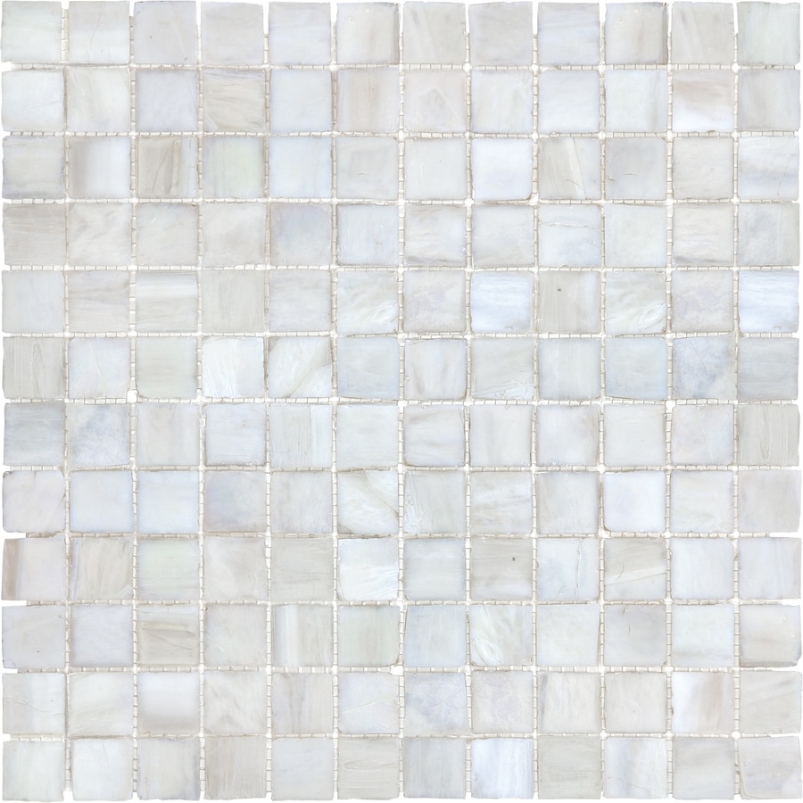 12 In X White Linen Tones Gl Wall Tile