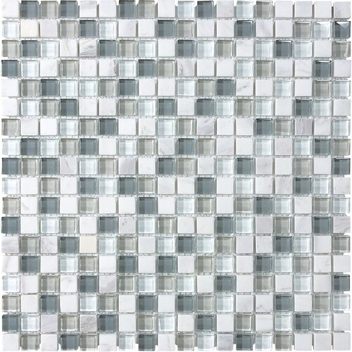 Allen Roth Mixed Material 12 In X 12 In Multi Finish Glass Stone Marble Travertine Linear Wall Tile In The Tile Department At Lowes Com