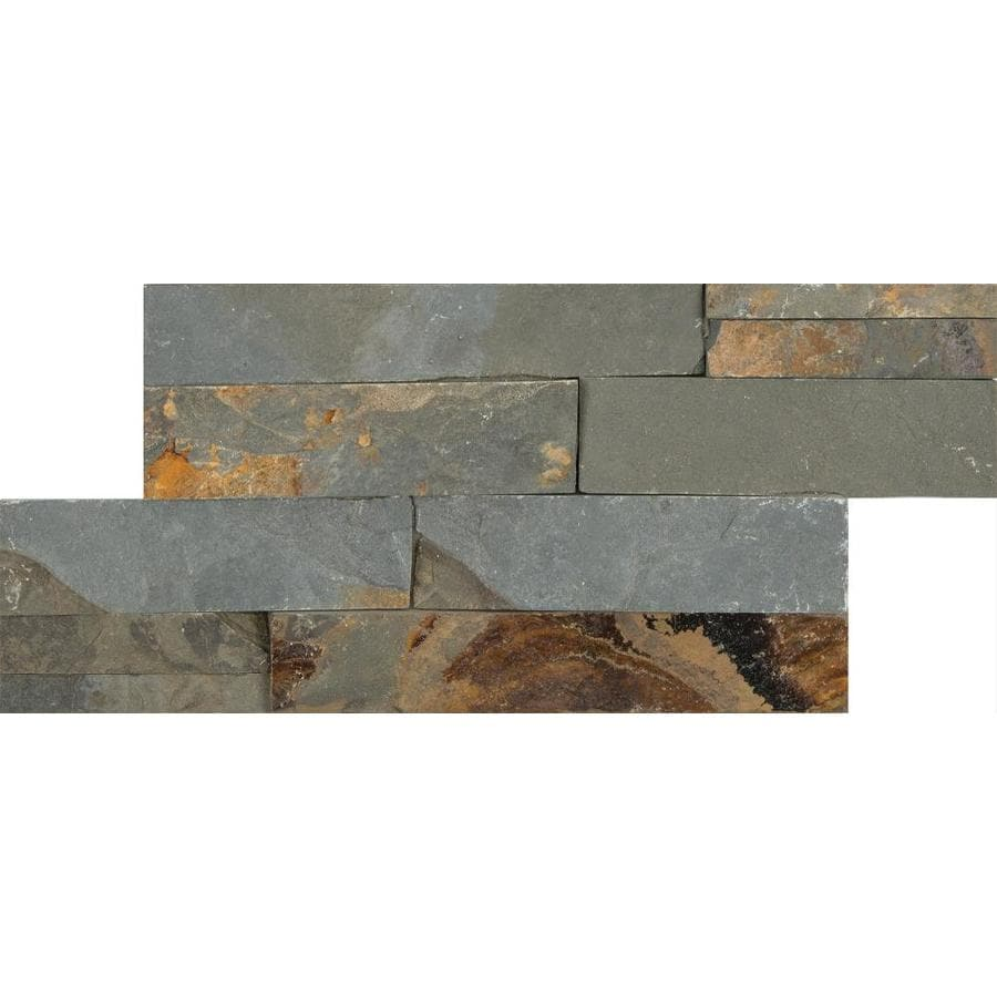 anatolia tile oxide ledgestone slate wall tile common 6in x 12