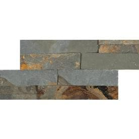 Anatolia Tile Oxide Ledgestone Slate Wall Common 6 In X 12