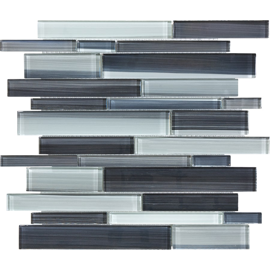 Shop Anatolia Tile Skyline Mosaic Glass Wall Tile (Common: 12-in x ...