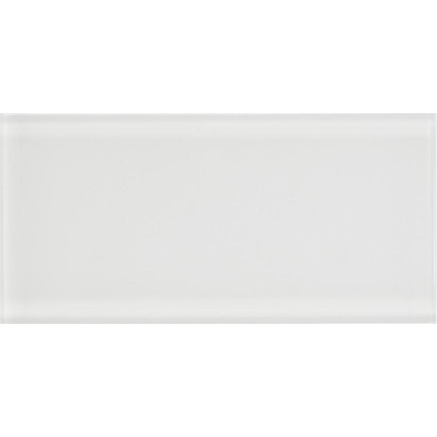 Anatolia Tile Studio White Glass Wall Tile (Common: 3-in x 6-in; Actual: 2.95-in x 5.9-in)