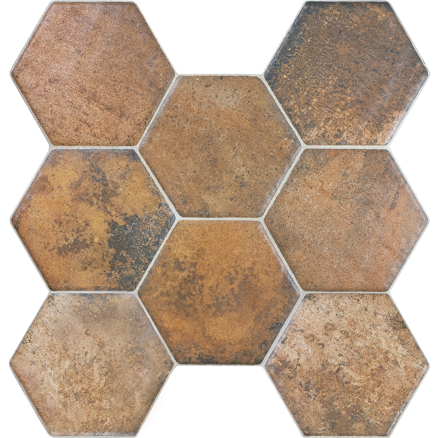 Shop Style Selections Caloca Terra Porcelain Floor Tile (Common ...