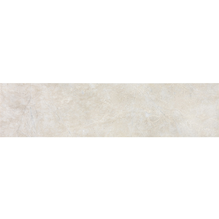 allen + roth Crema Luna Polished Marble Wall Tile (Common: 3-in x 12-in; Actual: 3-in x 12-in)