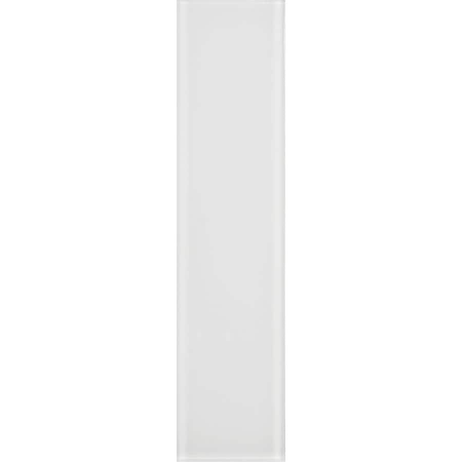 allen + roth Bright White Glass Wall Tile (Common: 3-in x 12-in; Actual: 2.87-in x 11.73-in)