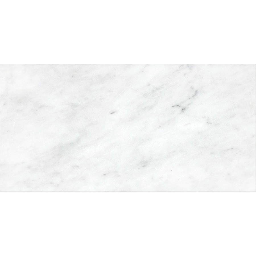 Anatolia Tile White Venatino Marble Floor and Wall Tile (Common: 12-in x 24-in; Actual: 12-in x 24-in)