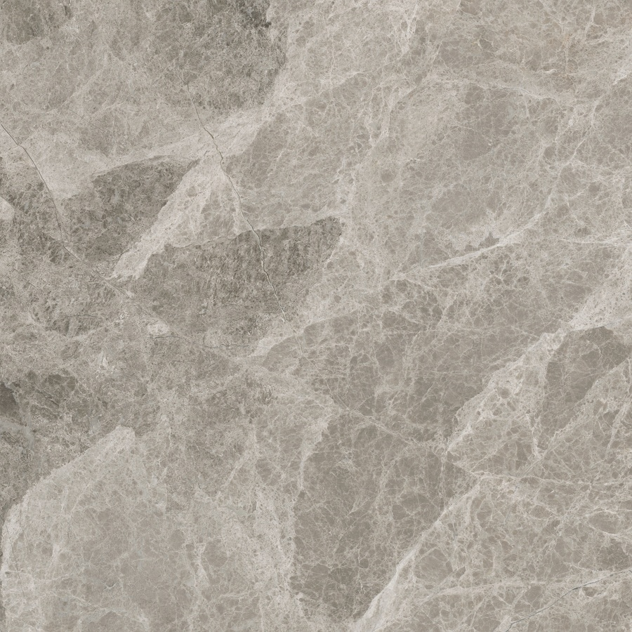 Anatolia Tile Studio Silver Marble Floor and Wall Tile (Common: 12-in x 12-in; Actual: 12-in x 12-in)