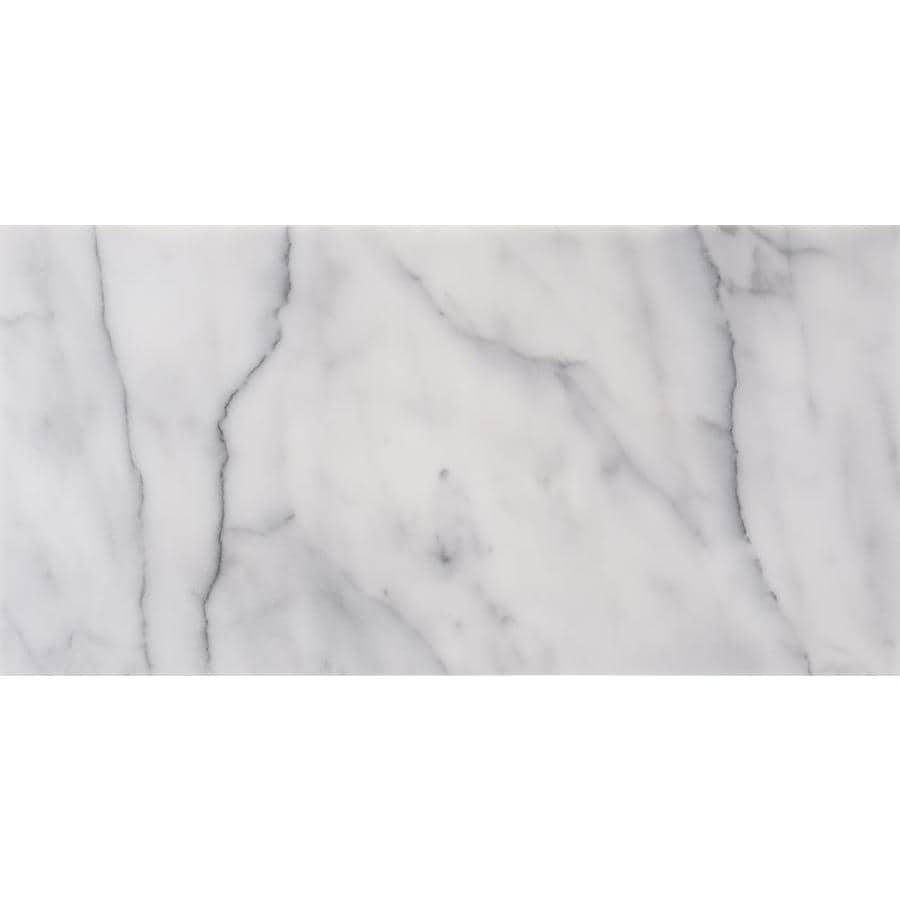 Anatolia Tile Bianco Glacier Marble Floor and Wall Tile (Common: 12-in x 24-in; Actual: 12-in x 24-in)