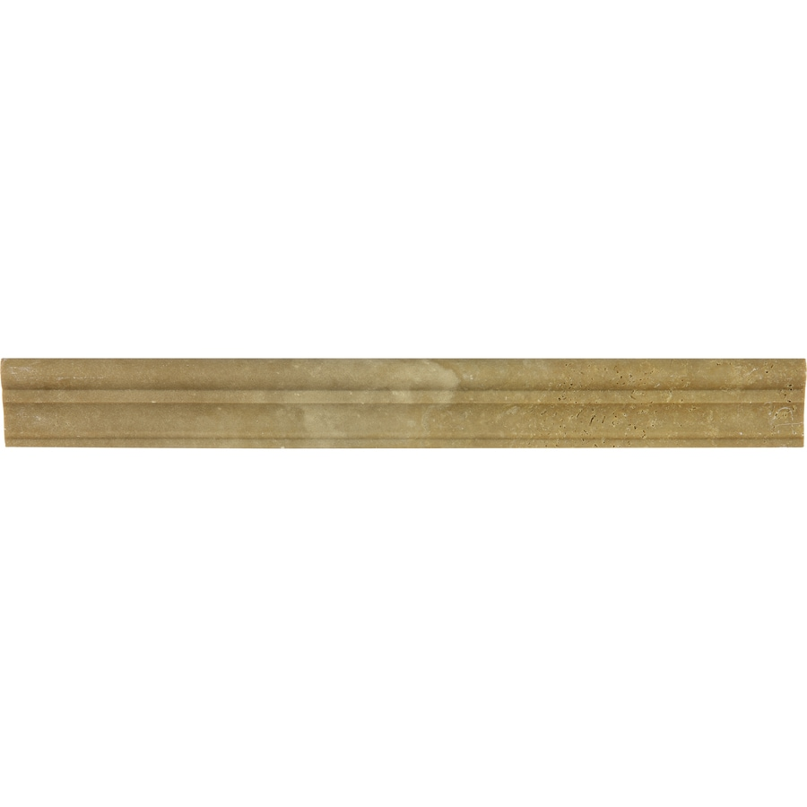 Shop anatolia tile noce travertine chair rail tile common for Travertine accent tile