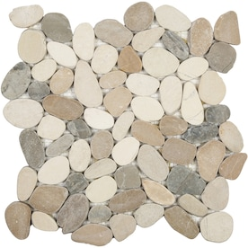 Satori Sunset Impressions 12-in x 12-in Natural Natural Stone Pebble Mosaic Wall Tile
