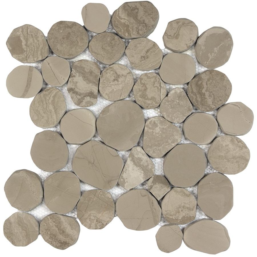 Anatolia Tile Spellbinder Pebble Mosaic Marble Wall Tile (Common: 12-in x 12-in; Actual: 11.81-in x 11.81-in)