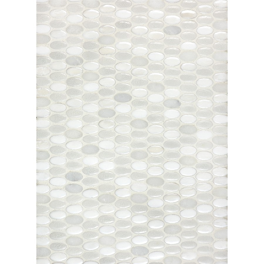 Anatolia Tile Milky Way Blend Penny Round Mosaic Ceramic and Natural Stone Marble Wall Tile (Common: 12-in x 12-in; Actual: 11.93-in x 11.57-in)